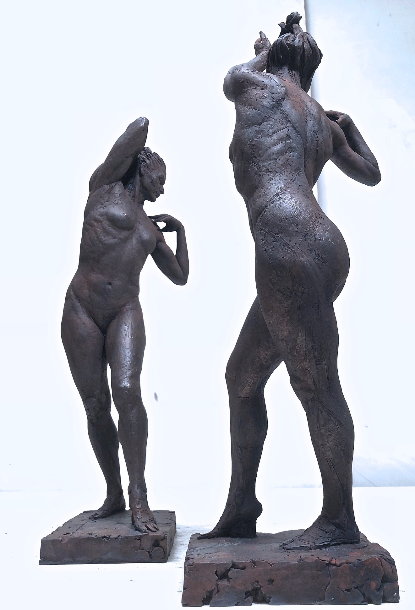 Dancing Figures, cast bronze